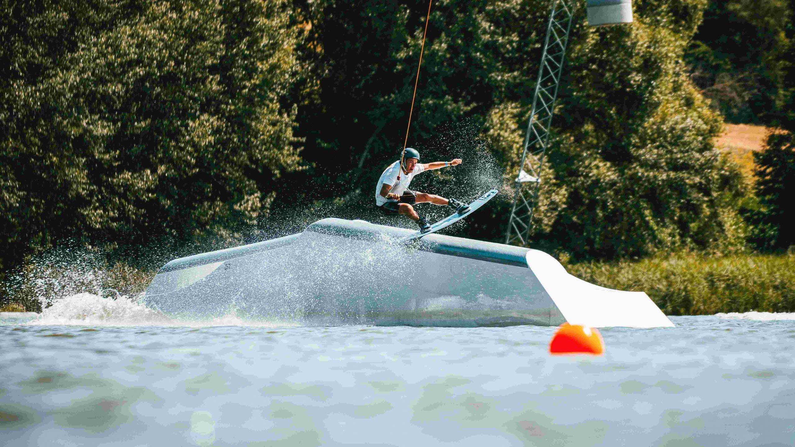 Funsport Wakeboarden am kleinen Brombachsee