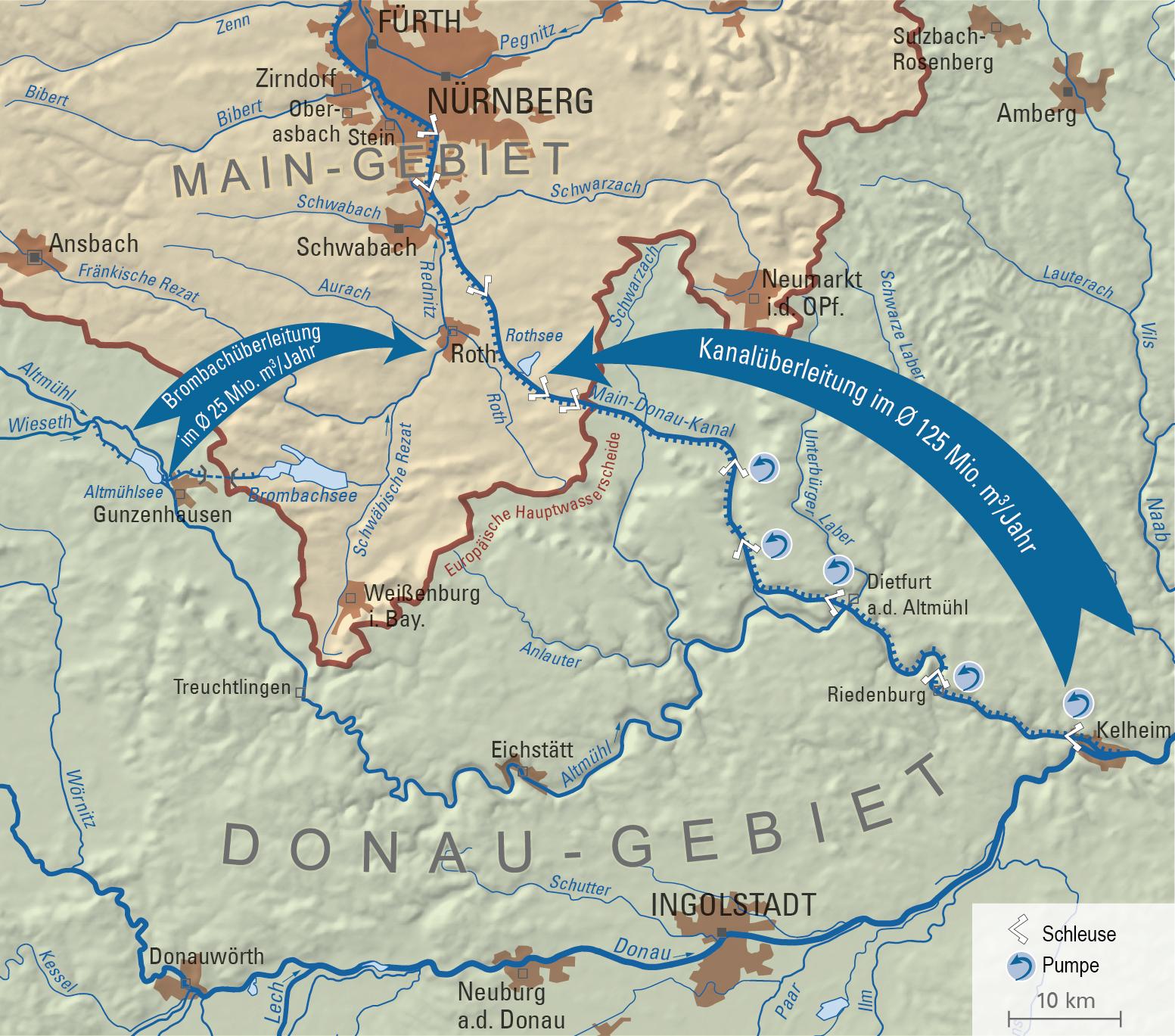 Das Wassersystem des Fränkischen Seenlandes