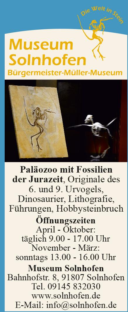 Museum Solnhofen Anzeige
